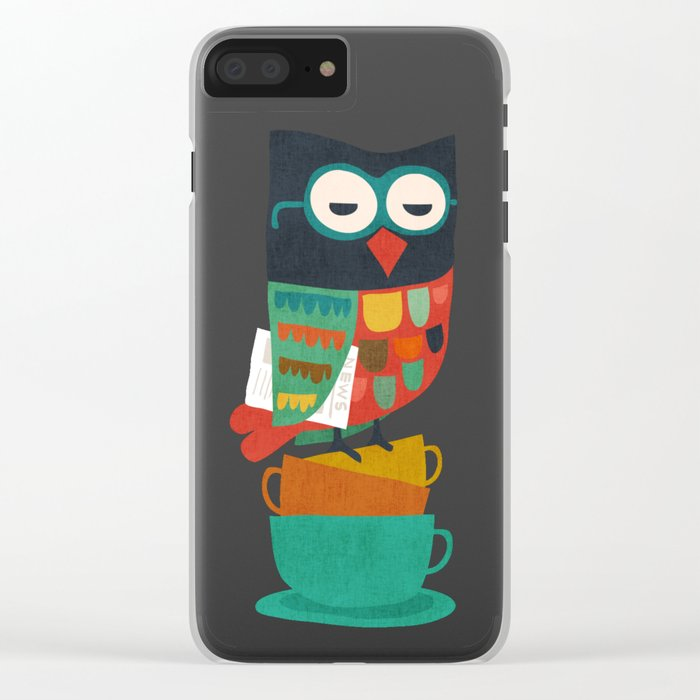 Morning Owl Clear iPhone Case