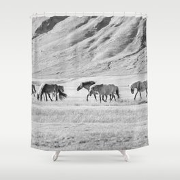 Horses in Iceland Photograph Shower Curtain