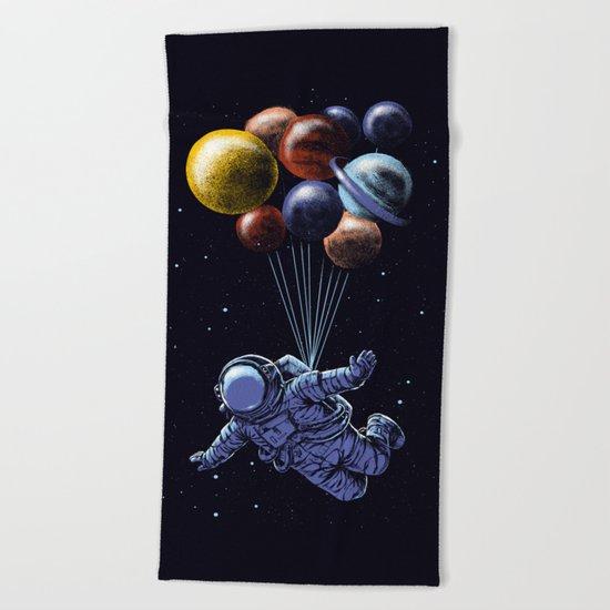 Space travel Beach Towel