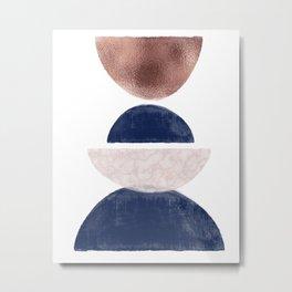 Semicircle Geometric II Art Print Metal Print