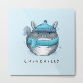 Chinchilly Metal Print