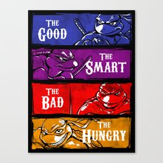 The Good, The Smart, The Bad and The Hungry Canvas Print