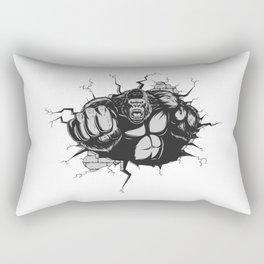 Punches gorilla Rectangular Pillow