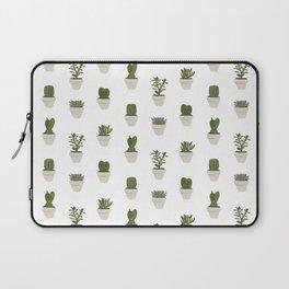 Cacti & Succulents - White Laptop Sleeve