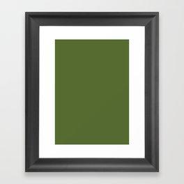 Dark olive green Framed Art Print