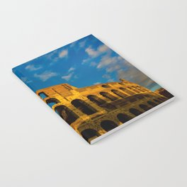 Sunset Over The Roman Colosseum Notebook