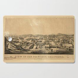 View of San Francisco, California: taken from Telegraph Hill, April 1850 Cutting Board