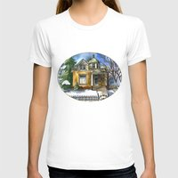 matty healy T-shirts featuring The Little Brown House by Shelley Ylst Art