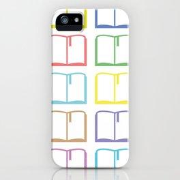 Livres hauts en couleur iPhone Case