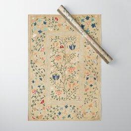 Uzbekistan Suzani Nim Embroidery Print Wrapping Paper
