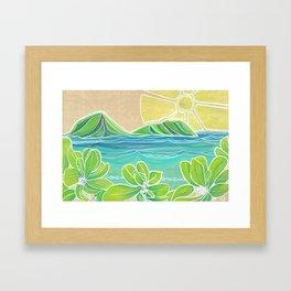 Naupakas in Paradise Surf Art by Lauren Tannehill Framed Art Print
