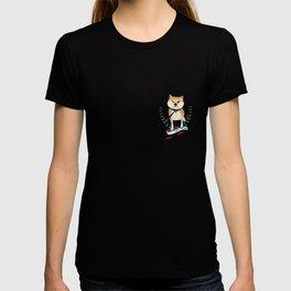 Shiba Inu Says No! - Old School Tattoo T-shirt
