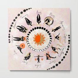Zodiac Wheel Metal Print