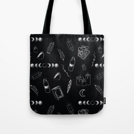 Witchy Stuff Black Tote Bag