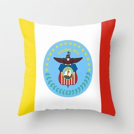 flag of Colombus Throw Pillow