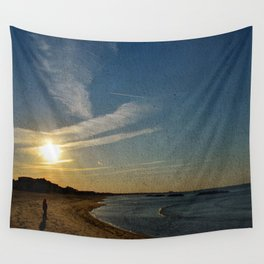 Textured Sunset Wall Tapestry