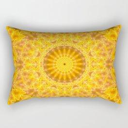 Golden Dreams Mandala Rectangular Pillow