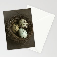 Speckled Eggs and Nest Stationery Cards