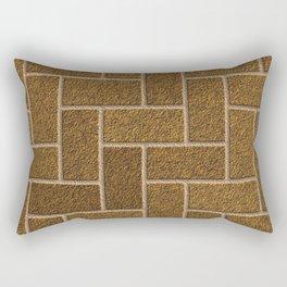 Gold Flaked Bricks Rectangular Pillow