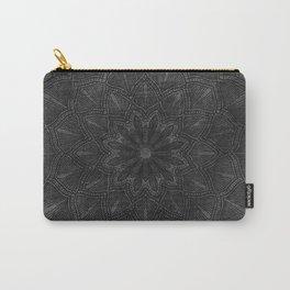 Black Gray Mandala Grunge Carry-All Pouch
