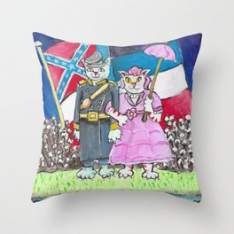 Mississippi Cat Throw Pillow