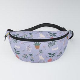 Cats and Plants Fanny Pack