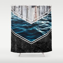 Striped Materials of Nature IV Shower Curtain