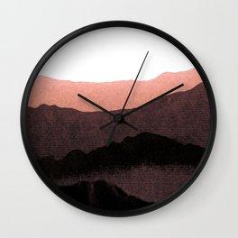 igneous rocks 3 / dusk edit Wall Clock