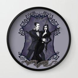 Gomez and Morticia Addams Wall Clock