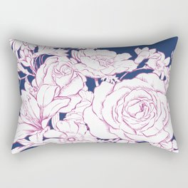Flower Mix Sketch Rectangular Pillow