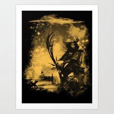 samourai bot Art Print