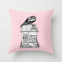 Home Bird Throw Pillow
