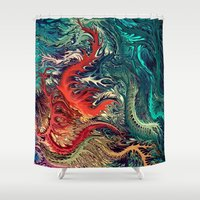 surrealism Shower Curtains featuring vivid Surrealism by rafi talby by Rafi Talby - Painter