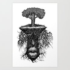 Rooty Art Print