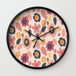 Quirky Flowers Wall Clock