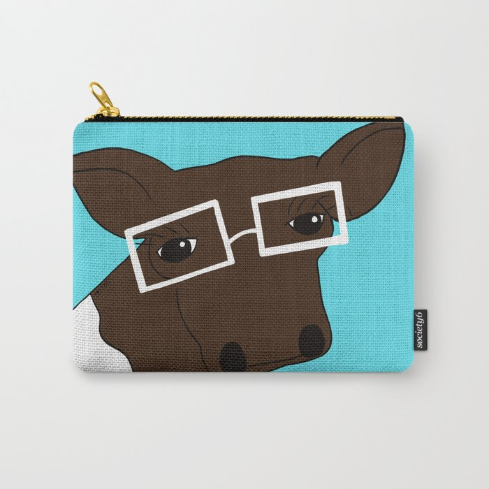 Matilda the Hipster Cow Carry-All Pouch