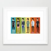 tegan and sara Framed Art Prints featuring Tegan and Sara: Tegan collection by Cas.