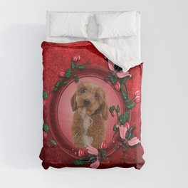Cute little cockapoo puppy Comforters