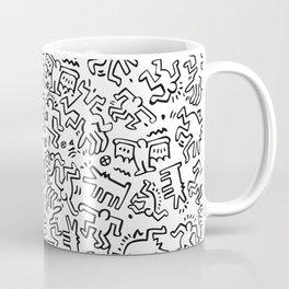 Figures Keith Haring White Coffee Mug