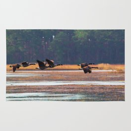 Flying Canadian Geese Rug