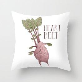 Heart Beet Throw Pillow