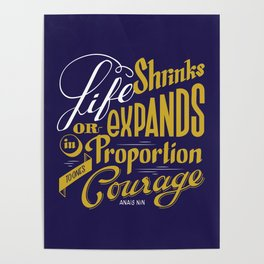Life shrinks or expands... Poster