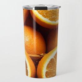 Oranges Piled Up Travel Mug