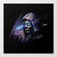 dishonored Canvas Prints featuring Dishonored by OneBlueWolf