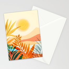 Golden Hour / Abstract Landscape Series Stationery Cards