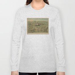 Vintage Pictorial Map of Jerusalem Israel (1871) Long Sleeve T-shirt