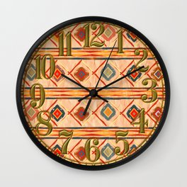 Southwestern Motif in Beige Wall Clock