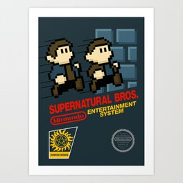 Supernatural  Bros. Box Art Art Print