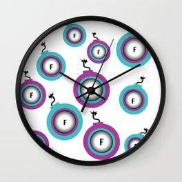 Darling F Bombs Wall Clock