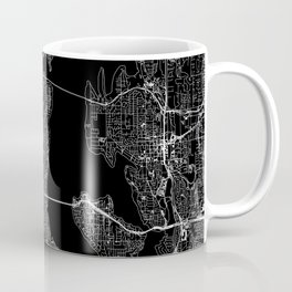 Seattle Black Map Coffee Mug